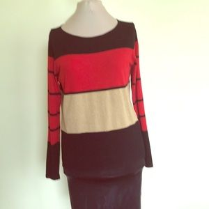 Color block sweater by Chaus
